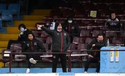 6 March 2021; Dundalk head coach Filippo Giovagnoli issues instructions during the Jim Malone Cup match between Drogheda United and Dundalk at Head In The Game Park in Drogheda, Louth. Photo by Stephen McCarthy/Sportsfile