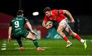 5 March 2021; Shane Daly of Munster in action against Caolin Blade of Connacht during the Guinness PRO14 match between Munster and Connacht at Thomond Park in Limerick. Photo by Ramsey Cardy/Sportsfile