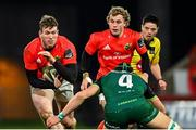 5 March 2021; Chris Farrell of Munster is tackled by Ultan Dillane of Connacht during the Guinness PRO14 match between Munster and Connacht at Thomond Park in Limerick. Photo by Ramsey Cardy/Sportsfile