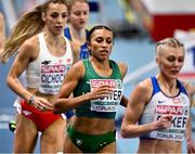6 March 2021; Nadia Power of Ireland competes in the Women's 800m semi-final during the second session on day two of the European Indoor Athletics Championships at Arena Torun in Torun, Poland. Photo by Sam Barnes/Sportsfile