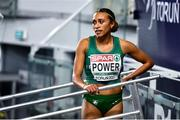 6 March 2021; Nadia Power of Ireland after the Women's 800m semi-final during the second session on day two of the European Indoor Athletics Championships at Arena Torun in Torun, Poland. Photo by Sam Barnes/Sportsfile