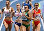 6 March 2021; Nadia Power of Ireland leads the field in the Women's 800m semi-final during the second session on day two of the European Indoor Athletics Championships at Arena Torun in Torun, Poland. Photo by Sam Barnes/Sportsfile
