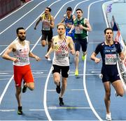 6 March 2021; Mark English of Ireland finishes fourth in the Men's 800m semi-final during the second session on day two of the European Indoor Athletics Championships at Arena Torun in Torun, Poland. Photo by Sam Barnes/Sportsfile
