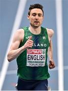 6 March 2021; Mark English of Ireland competes in the Men's 800m semi-final during the second session on day two of the European Indoor Athletics Championships at Arena Torun in Torun, Poland. Photo by Sam Barnes/Sportsfile
