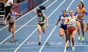 6 March 2021; Phil Healy of Ireland finishes fourth in the Women's 400m final during the second session on day two of the European Indoor Athletics Championships at Arena Torun in Torun, Poland. Photo by Sam Barnes/Sportsfile