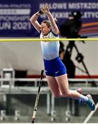 6 March 2021; Holly Bradshaw of Great Britain competes in the Women's Pole Vault Final during the second session on day two of the European Indoor Athletics Championships at Arena Torun in Torun, Poland. Photo by Sam Barnes/Sportsfile