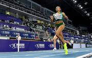 6 March 2021; Nadia Power of Ireland finishes fourth in the Women's 800m semi-final during the second session on day two of the European Indoor Athletics Championships at Arena Torun in Torun, Poland. Photo by Sam Barnes/Sportsfile