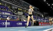 6 March 2021; Elise Vanderelst of Belgium comes home to win gold in the Women's 1500m final during the second session on day two of the European Indoor Athletics Championships at Arena Torun in Torun, Poland. Photo by Sam Barnes/Sportsfile