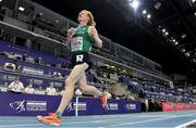 7 March 2021; Séan Tobin of Ireland crosses the line to finish 11th in the Men's 3000m Final during the second session on day three of the European Indoor Athletics Championships at Arena Torun in Torun, Poland. Photo by Sam Barnes/Sportsfile