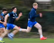 8 March 2021; Jamie Osborne, right, and Tim Corkery during Leinster Rugby squad training at UCD in Dublin. Photo by Ramsey Cardy/Sportsfile