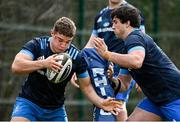 8 March 2021; Scott Penny, left, and Tom Clarkson during Leinster Rugby squad training at UCD in Dublin. Photo by Ramsey Cardy/Sportsfile