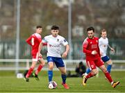 6 March 2021; Adam O'Reilly of Waterford in action against Cory Galvin of Cork City during the pre-season friendly match between Waterford and Cork City at the RSC in Waterford. Photo by Seb Daly/Sportsfile