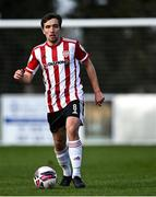 6 March 2021; Joe Thomson of Derry City during the Pre-Season Friendly match between Bohemians and Derry City at the AUL Complex in Clonshaugh, Dublin. Photo by Piaras Ó Mídheach/Sportsfile