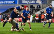6 March 2021; Michael Bent of Leinster during the Guinness PRO14 match between Ulster and Leinster at Kingspan Stadium in Belfast. Photo by Ramsey Cardy/Sportsfile