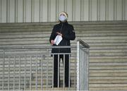 13 March 2021; Trainer Denise Foster watches the Navan Members Maiden Hurdle (Div 1) at Navan Racecourse in Meath. Photo by Harry Murphy/Sportsfile