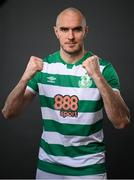 13 March 2021; Joey O'Brien during a Shamrock Rovers portrait session ahead of the 2021 SSE Airtricity League Premier Division season at Tallaght Stadium in Dublin.  Photo by Stephen McCarthy/Sportsfile