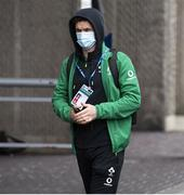 14 March 2021; Billy Burns of Ireland arrives ahead of the Guinness Six Nations Rugby Championship match between Scotland and Ireland at BT Murrayfield Stadium in Edinburgh, Scotland. Photo by Paul Devlin/Sportsfile