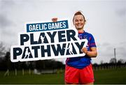 16 March 2021; Meath and Dunboyne footballer Vikki Wall at the launch of the new Gaelic Games Player Pathway which is a new united approach to coaching and player development by the GAA, LGFA and Camogie Association and which puts the club as the core. Photo by Harry Murphy/Sportsfile