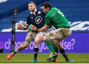 14 March 2021; Finn Russell of Scotland is tackled by James Ryan of Ireland during the Guinness Six Nations Rugby Championship match between Scotland and Ireland at BT Murrayfield Stadium in Edinburgh, Scotland. Photo by Paul Devlin/Sportsfile