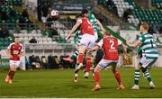 19 March 2021; Aaron Greene of Shamrock Rovers heads his side's goal during the SSE Airtricity League Premier Division match between Shamrock Rovers and St Patrick's Athletic at Tallaght Stadium in Dublin. Photo by Stephen McCarthy/Sportsfile
