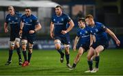 19 March 2021; Leinster players, from left, Devin Toner, Josh Murphy, Ross Molony, Rowan Osborne and Ciarán Frawley during the Guinness PRO14 match between Leinster and Ospreys at RDS Arena in Dublin. Photo by Ramsey Cardy/Sportsfile