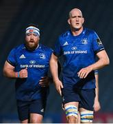 19 March 2021; Michael Bent, left, and Devin Toner of Leinster during the Guinness PRO14 match between Leinster and Ospreys at RDS Arena in Dublin. Photo by Ramsey Cardy/Sportsfile