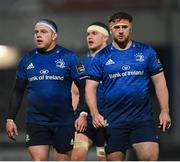 19 March 2021; Seán Cronin, left, and Marcus Hanan of Leinster during the Guinness PRO14 match between Leinster and Ospreys at RDS Arena in Dublin. Photo by Ramsey Cardy/Sportsfile