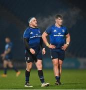 19 March 2021; Seán Cronin, left, and Dan Sheehan of Leinster during the Guinness PRO14 match between Leinster and Ospreys at RDS Arena in Dublin. Photo by Ramsey Cardy/Sportsfile