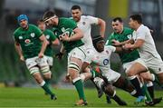 20 March 2021; Iain Henderson of Ireland beats the tackle of Maro Itoje of England during the Guinness Six Nations Rugby Championship match between Ireland and England at Aviva Stadium in Dublin. Photo by Brendan Moran/Sportsfile