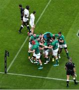20 March 2021; Ireland players celebrate a try by Keith Earls during the Guinness Six Nations Rugby Championship match between Ireland and England at the Aviva Stadium in Dublin. Photo by Ramsey Cardy/Sportsfile