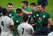 20 March 2021; CJ Stander of Ireland is applauded off the pitch following their victory in the Guinness Six Nations Rugby Championship match between Ireland and England at the Aviva Stadium in Dublin. Photo by Ramsey Cardy/Sportsfile