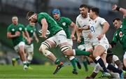20 March 2021; Iain Henderson of Ireland makes a break during the Guinness Six Nations Rugby Championship match between Ireland and England at Aviva Stadium in Dublin. Photo by Brendan Moran/Sportsfile