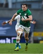 20 March 2021; Jacob Stockdale of Ireland during the Guinness Six Nations Rugby Championship match between Ireland and England at Aviva Stadium in Dublin. Photo by Brendan Moran/Sportsfile