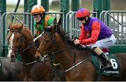 21 March 2021; Teed Up, right, with Billy Lee up, and Lobo Rojo, left, with Shane Foley up, leave the stalls at the start of the Paddy Power Irish Lincolnshire at The Curragh Racecourse in Kildare. Photo by Seb Daly/Sportsfile
