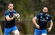 22 March 2021; Josh Murphy, right, and Scott Fardy during Leinster Rugby squad training at UCD in Dublin. Photo by Ramsey Cardy/Sportsfile