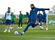 26 March 2021; Shane Duffy during a Republic of Ireland training session at the FAI National Training Centre in Abbotstown, Dublin. Photo by Seb Daly/Sportsfile