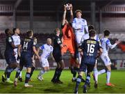 26 March 2021; Brendan Clarke of Shelbourne claims a cross during the SSE Airtricity League First Division match between Galway United and Shelbourne at Eamonn Deacy Park in Galway. Photo by David Fitzgerald/Sportsfile
