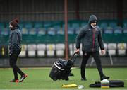 26 March 2021; Dundalk coach Filippo Giovagnoli, right, and Dundalk team manager Shane Keegan during the SSE Airtricity League Premier Division match between Dundalk and Finn Harps at Oriel Park in Dundalk, Louth. Photo by Eóin Noonan/Sportsfile