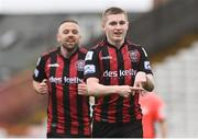 27 March 2021; Ross Tierney of Bohemians, right, celebrates after scoring his side's second goal during the SSE Airtricity League Premier Division match between Bohemians and Longford Town at Dalymount Park in Dublin. Photo by Sam Barnes/Sportsfile