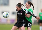 27 March 2021; Aisling Frawley of Wexford Youths in action against Dearbhaile Beirne of Peamount United during the SSE Airtricity Women's National League match between Wexford Youths and Peamount United at Ferrycarrig Park in Wexford. Photo by Michael P Ryan/Sportsfile
