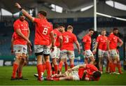 27 March 2021; Peter O'Mahony of Munster awaits medical attention during the Guinness PRO14 Final match between Leinster and Munster at the RDS Arena in Dublin. Photo by David Fitzgerald/Sportsfile