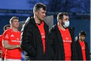 27 March 2021; Dejected Munster players Peter O'Mahony, left, and James Cronin following the Guinness PRO14 Final match between Leinster and Munster at the RDS Arena in Dublin. Photo by Ramsey Cardy/Sportsfile