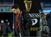 27 March 2021; Joey Carbery of Munster with his runners-up medal following his side's defeat in the Guinness PRO14 Final match between Leinster and Munster at the RDS Arena in Dublin. Photo by Ramsey Cardy/Sportsfile