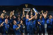 27 March 2021; Devin Toner of Leinster lifts the PRO14 trophy following their side's victory in the Guinness PRO14 Final match between Leinster and Munster at the RDS Arena in Dublin. Photo by Ramsey Cardy/Sportsfile