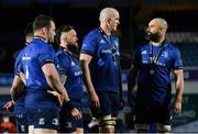 27 March 2021; Leinster players, from left, Cian Healy, Andrew Porter, Devin Toner and Scott Fardy following their side's victory in the Guinness PRO14 Final match between Leinster and Munster at the RDS Arena in Dublin. Photo by Ramsey Cardy/Sportsfile