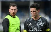 27 March 2021; Joey Carbery, right, and JJ Hanrahan of Munster prior to the Guinness PRO14 Final match between Leinster and Munster at the RDS Arena in Dublin. Photo by Ramsey Cardy/Sportsfile