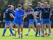 29 March 2021; Ross Byrne during Leinster Rugby squad training at UCD in Dublin. Photo by Ramsey Cardy/Sportsfile