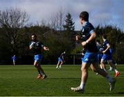 29 March 2021; Jamison Gibson-Park passes to Luke McGrath during Leinster Rugby squad training at UCD in Dublin. Photo by Ramsey Cardy/Sportsfile