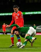 27 March 2021; Alan Browne of Republic of Ireland in action against Olivier Thill of Luxembourg during the FIFA World Cup 2022 qualifying group A match between Republic of Ireland and Luxembourg at the Aviva Stadium in Dublin. Photo by Eóin Noonan/Sportsfile