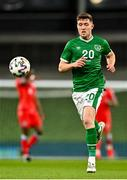 27 March 2021; Dara O'Shea of Republic of Ireland during the FIFA World Cup 2022 qualifying group A match between Republic of Ireland and Luxembourg at the Aviva Stadium in Dublin. Photo by Eóin Noonan/Sportsfile